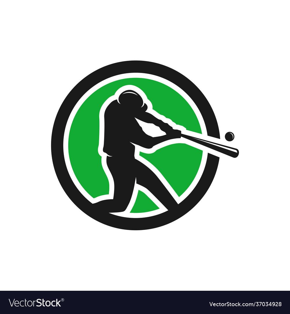 Modern sport baseball logo