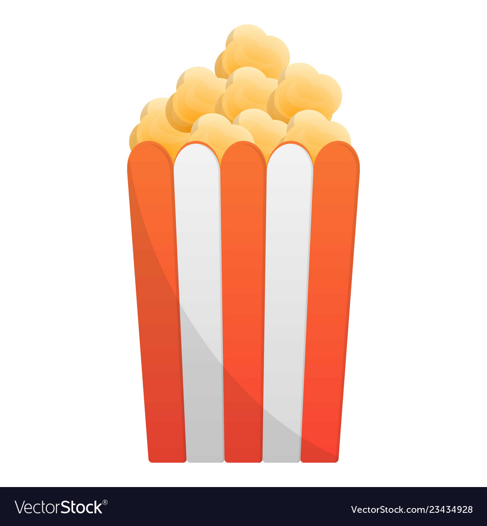 Popcorn Box Icon Cartoon Style Royalty Free Vector Image