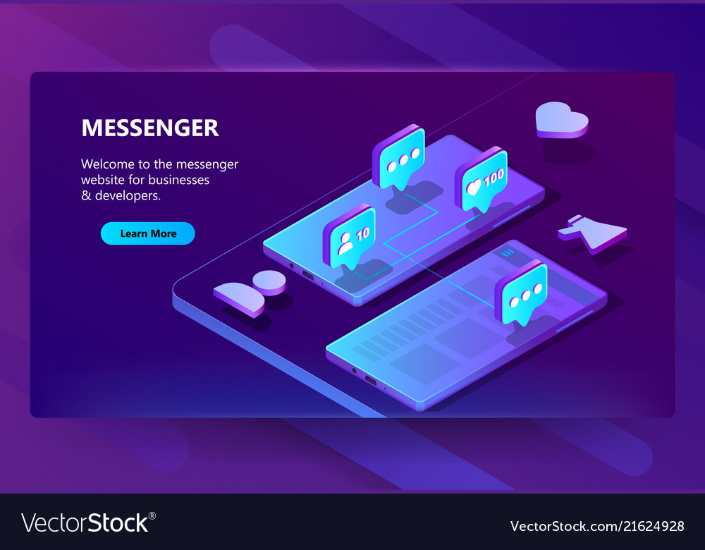 Site template for messenger online chat