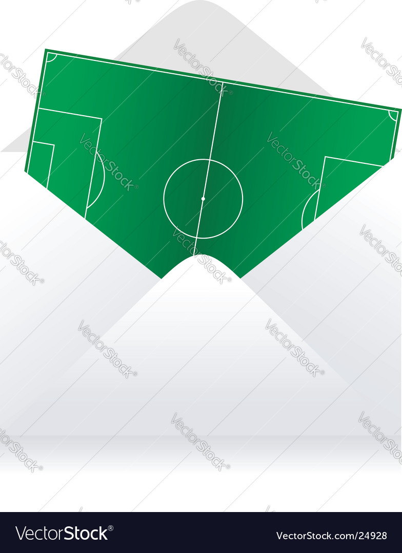 Soccer field delivery vector image