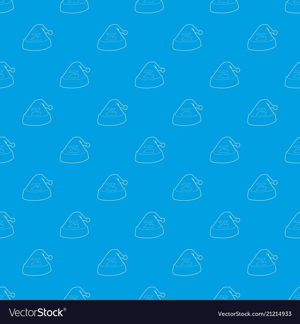Cap for sleep pattern seamless blue