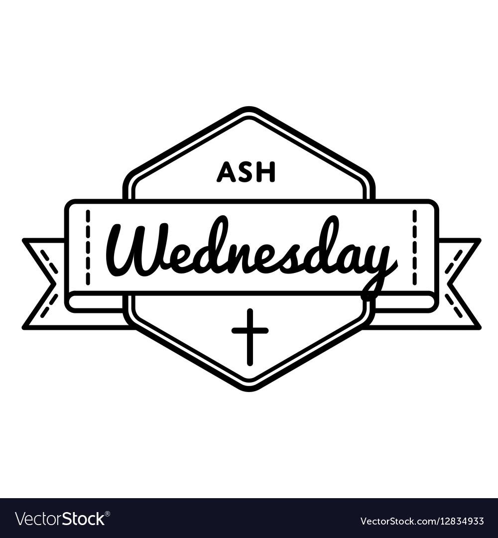 Catholic Ash Wednesday Greeting Emblem Royalty Free Vector