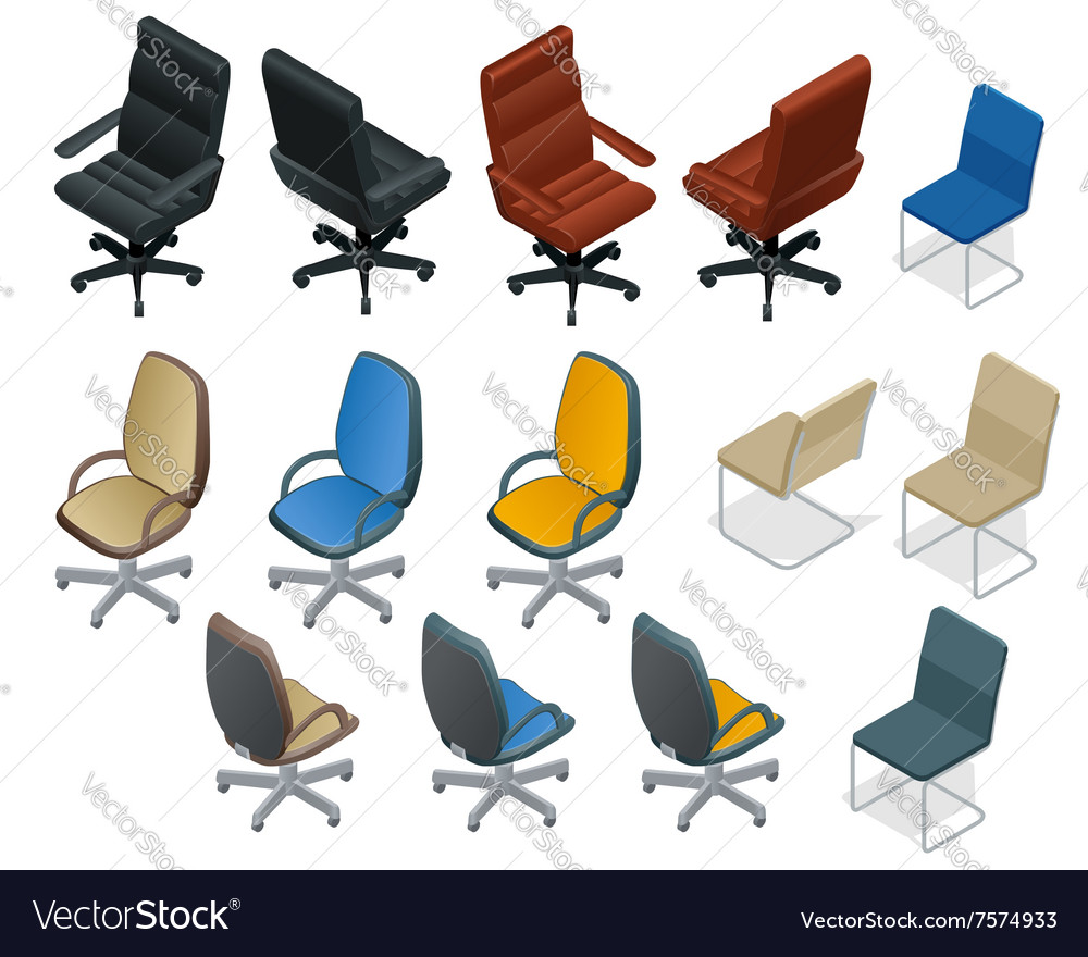 Office chair isolated on white background Chair