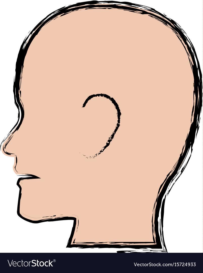 Silhouette human man profile people healthy