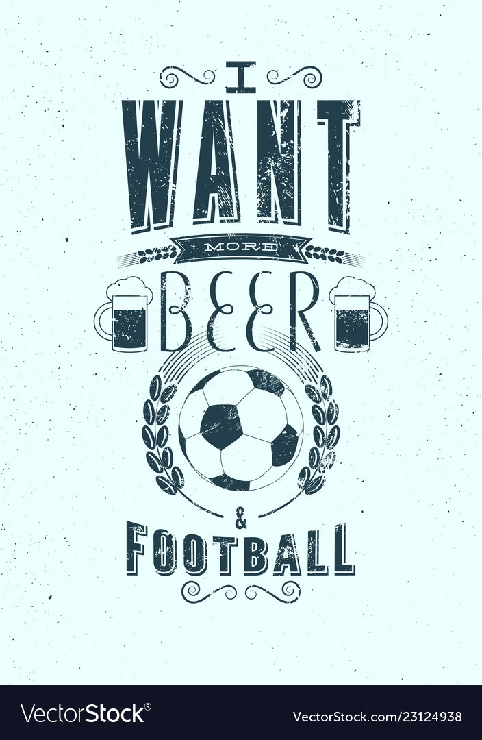 Beer and football sports bar grunge poster