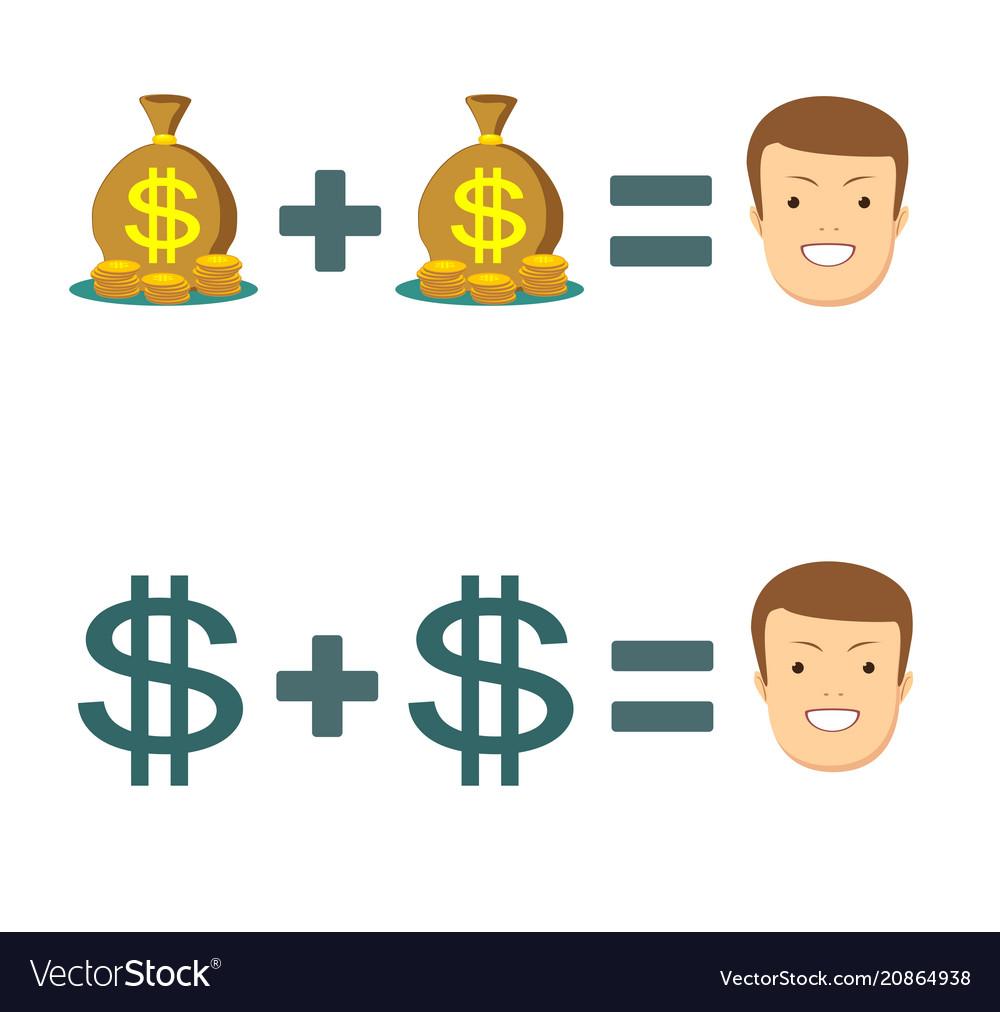 Businessman with money rich businessman