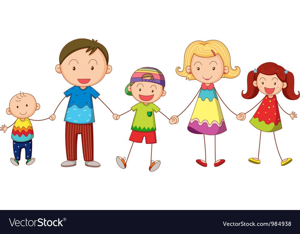 Cartoon Family Portrait