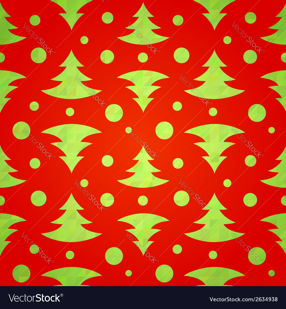 Christmas tree decorative seamless pattern