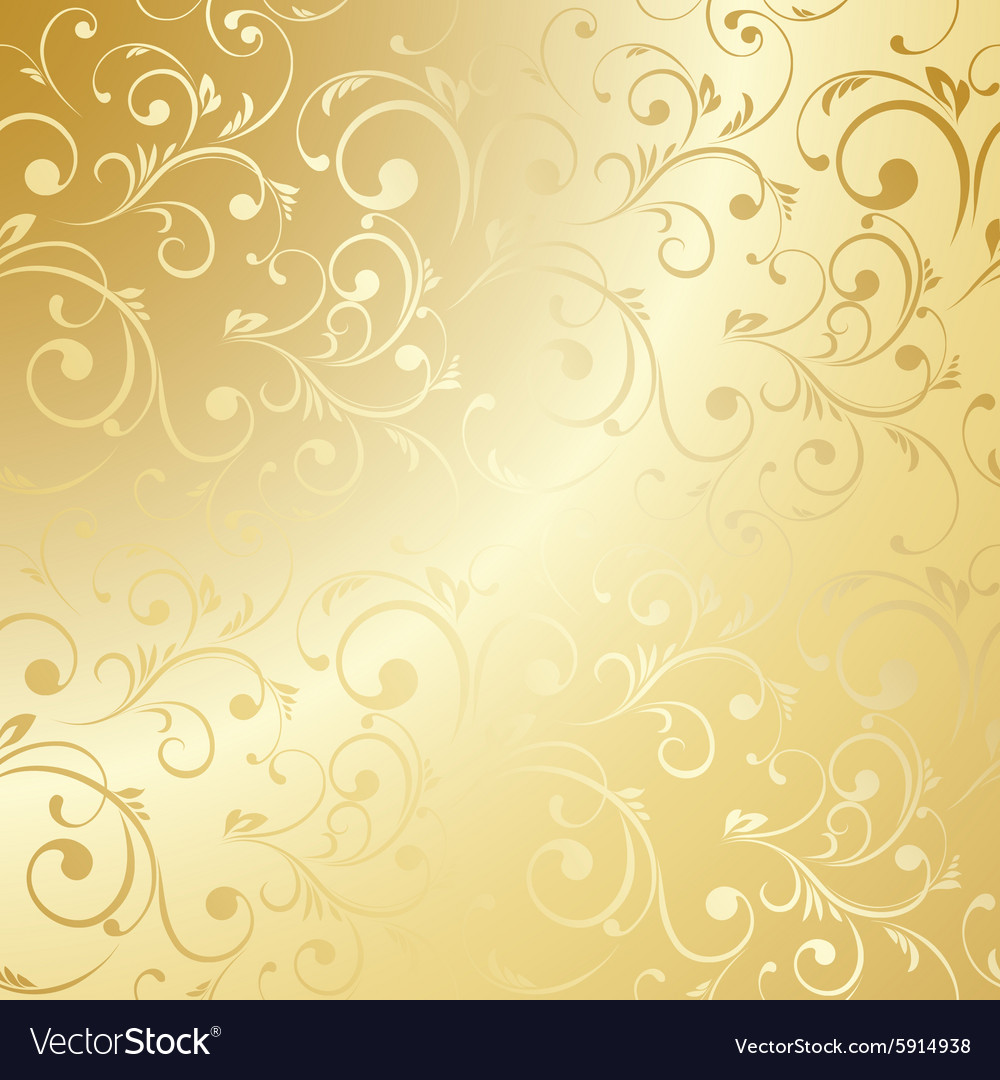 Luxury Golden Floral Wallpaper Royalty Free Vector Image