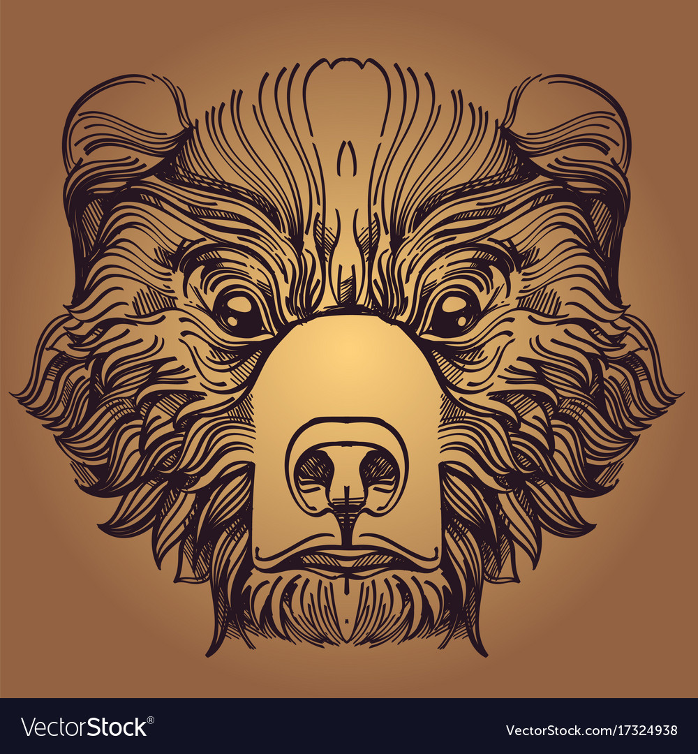 Muzzle bear for creating sketches of tattoos