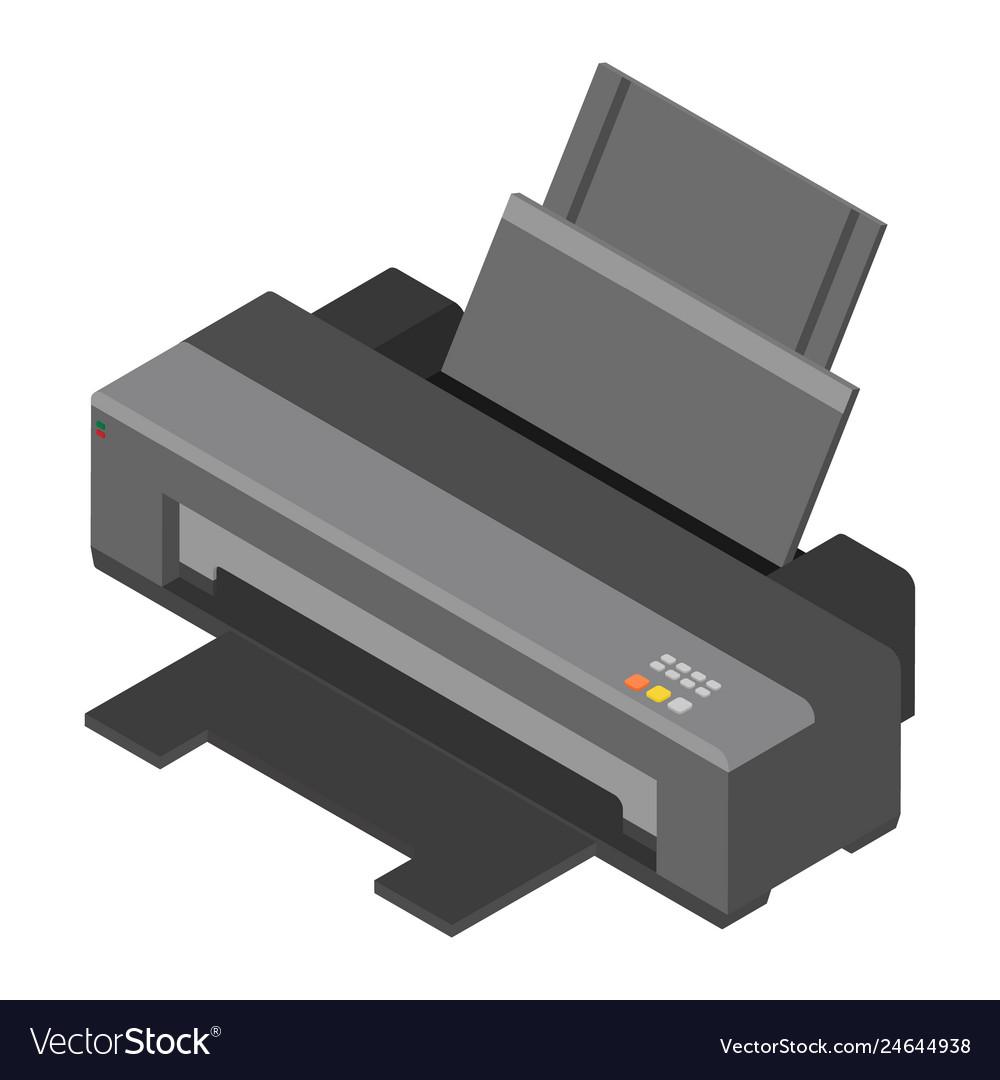 Printer isometric view