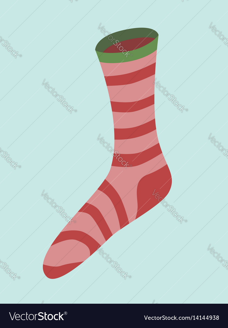 Red striped christmas sock
