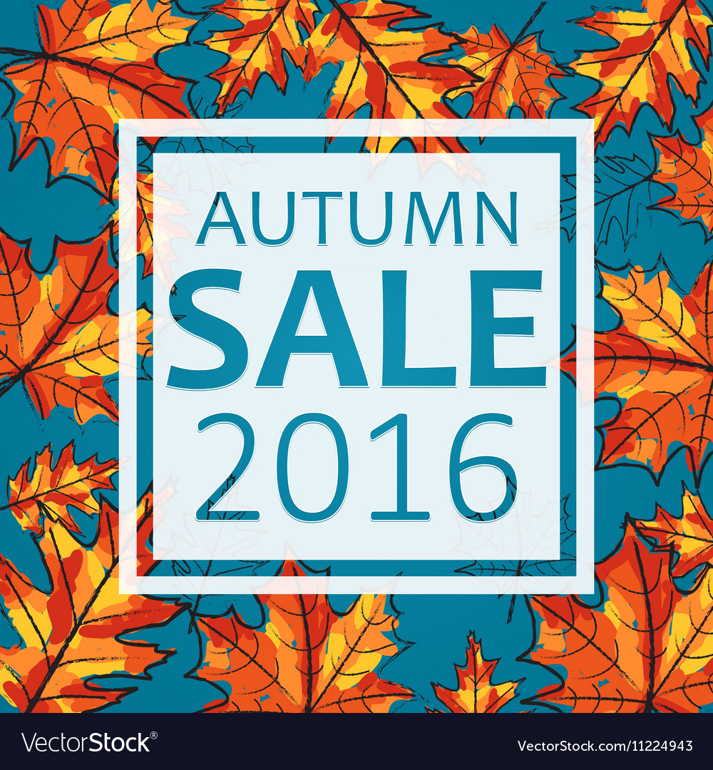 Autumn sale seasonal vector image