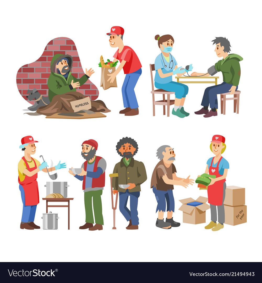 Charity volunteer people caring elderly