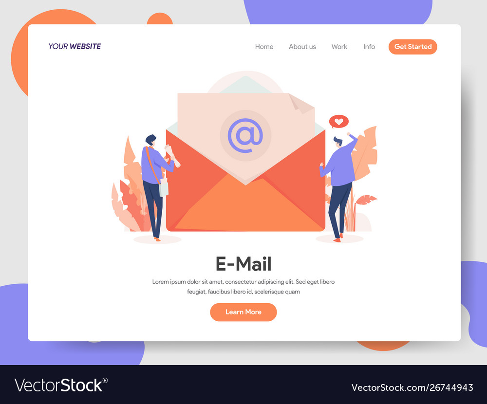 E-mail with two businessman