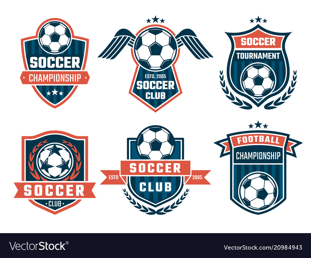 Emblem of football theme sport logos