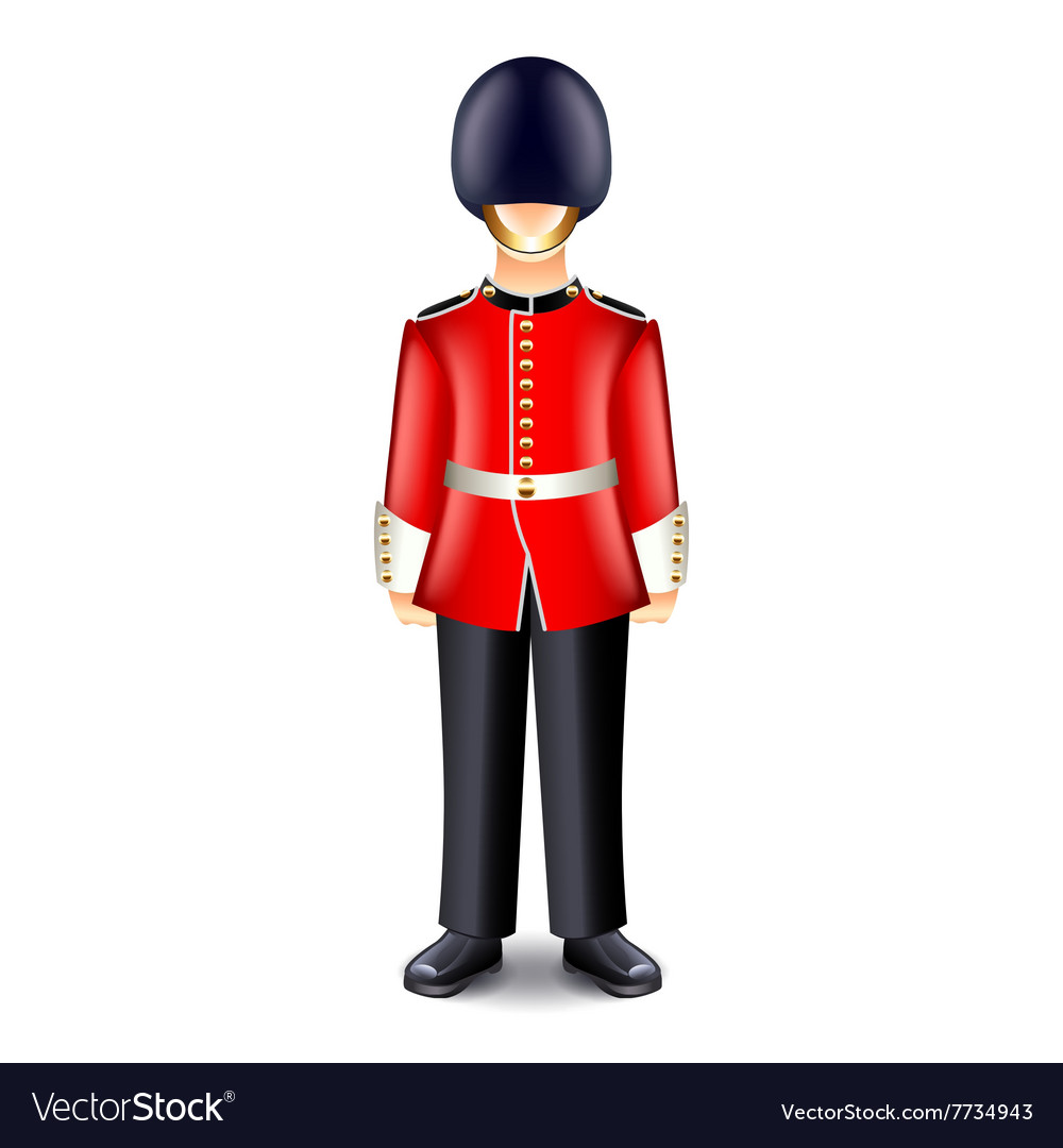 London guard isolated on white