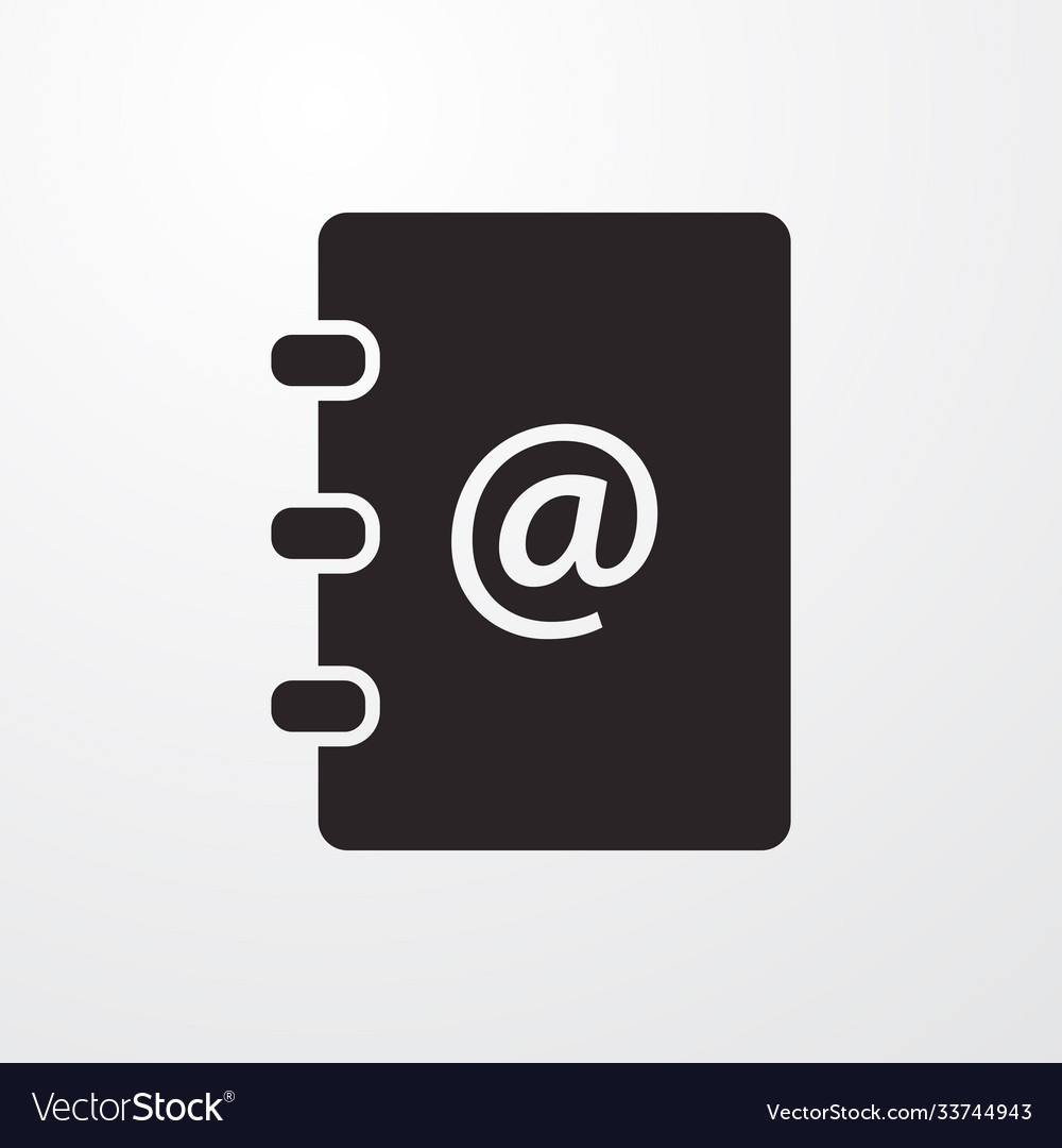 Mail address phone book sign icon flat des