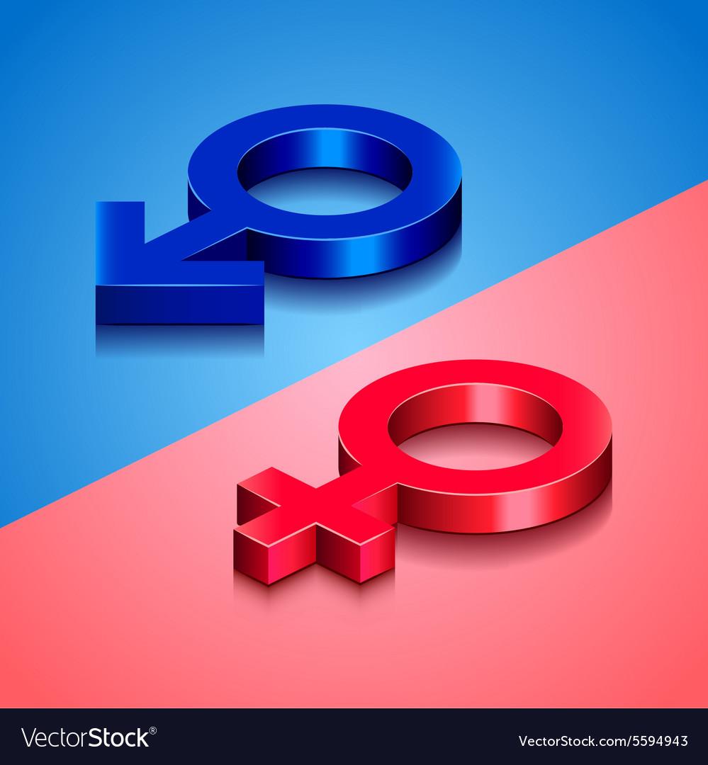 Woman and man symbols