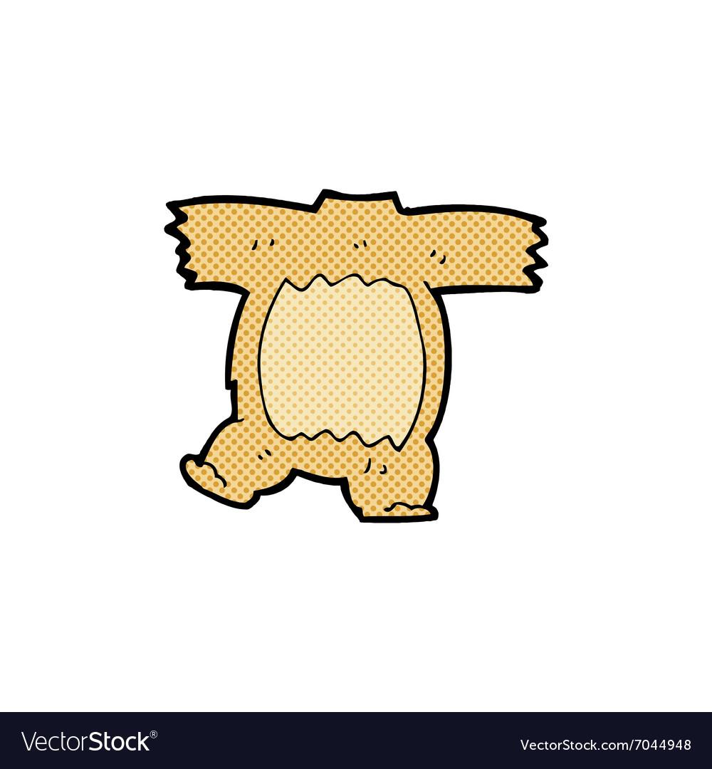 Comic cartoon teddy bear body