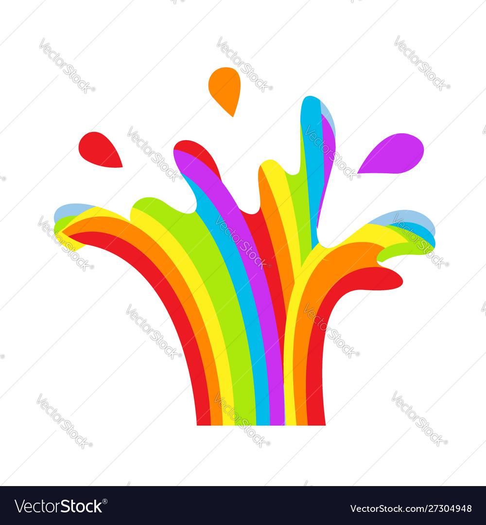 Lgbt splashing fountain rainbow symbol icon gay