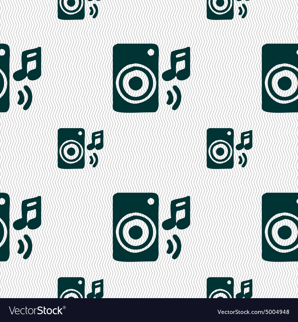 Music column disco music melody speaker icon sign