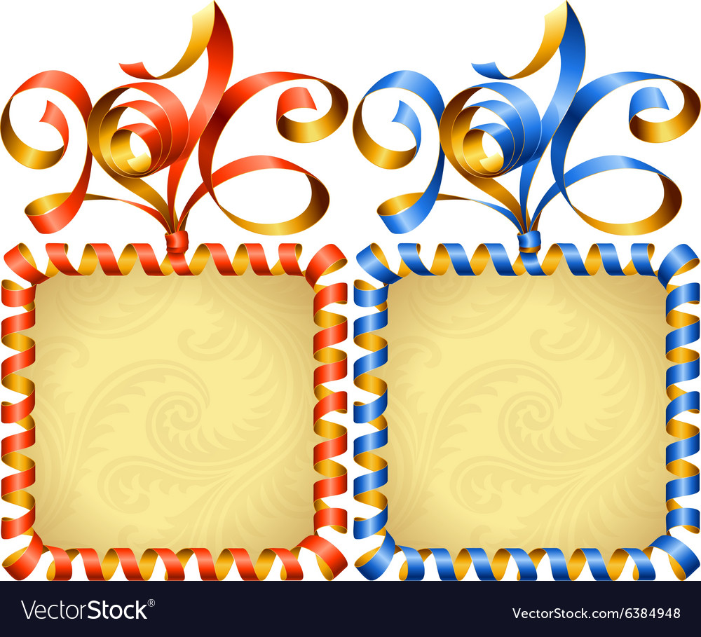 New Year 2016 square frame set