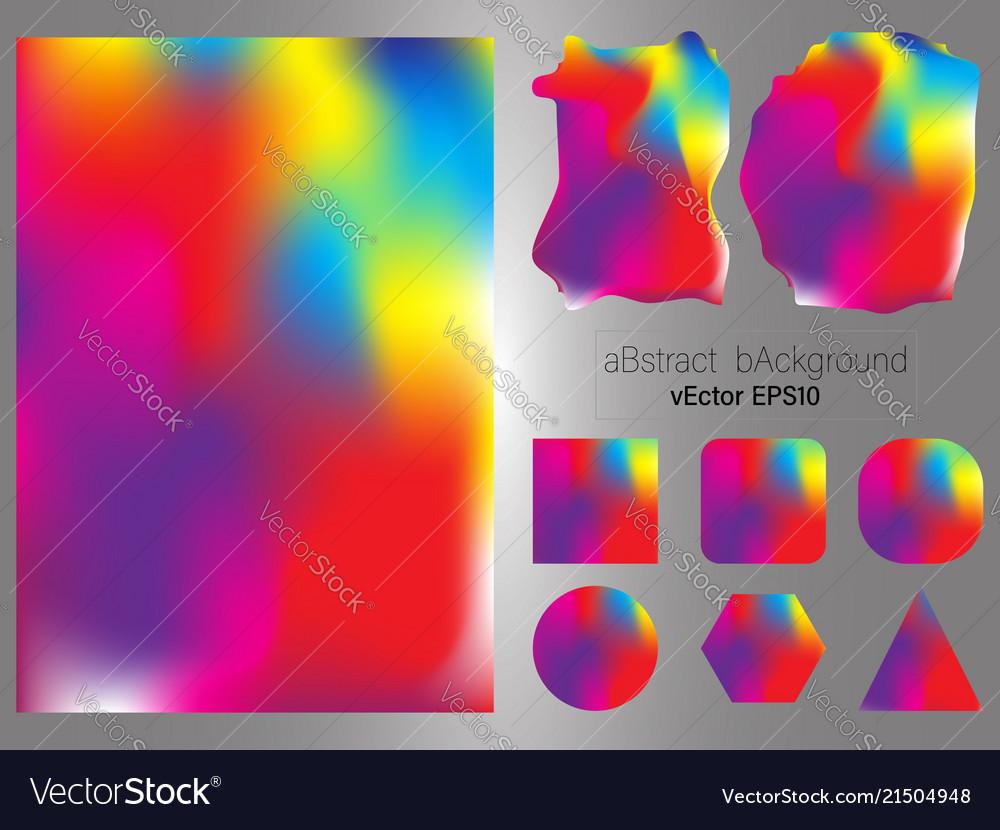 Set of gradient mesh color background modern