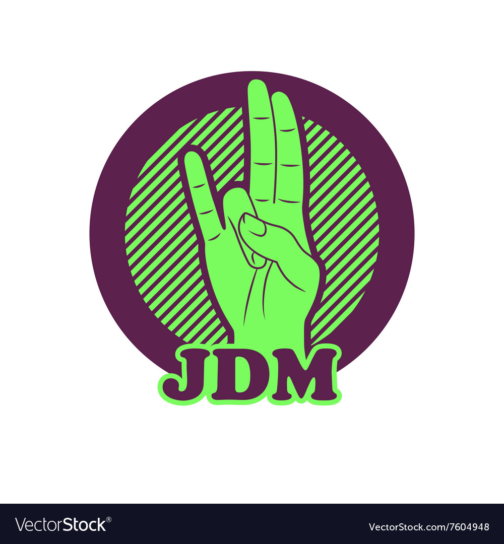 Shocker hand symbol JDM