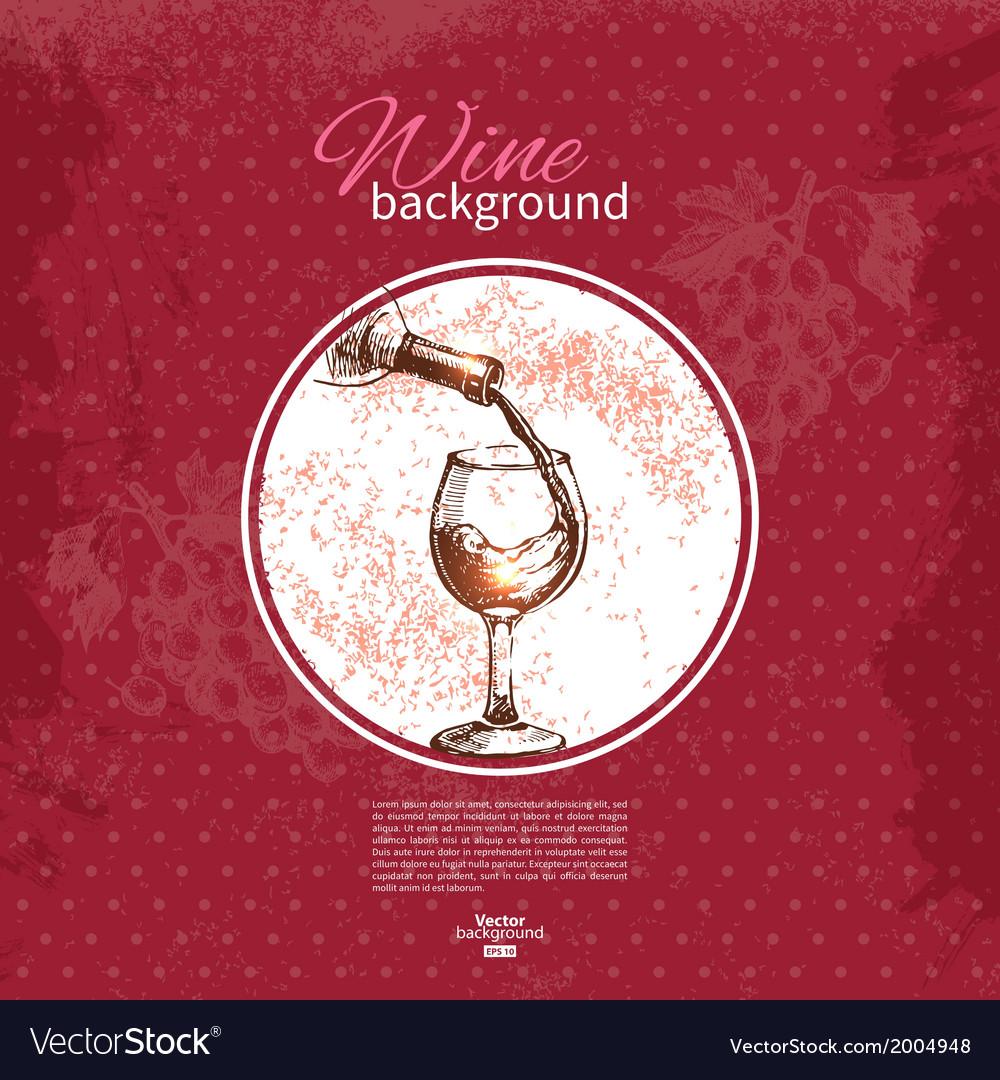 Wine vintage background