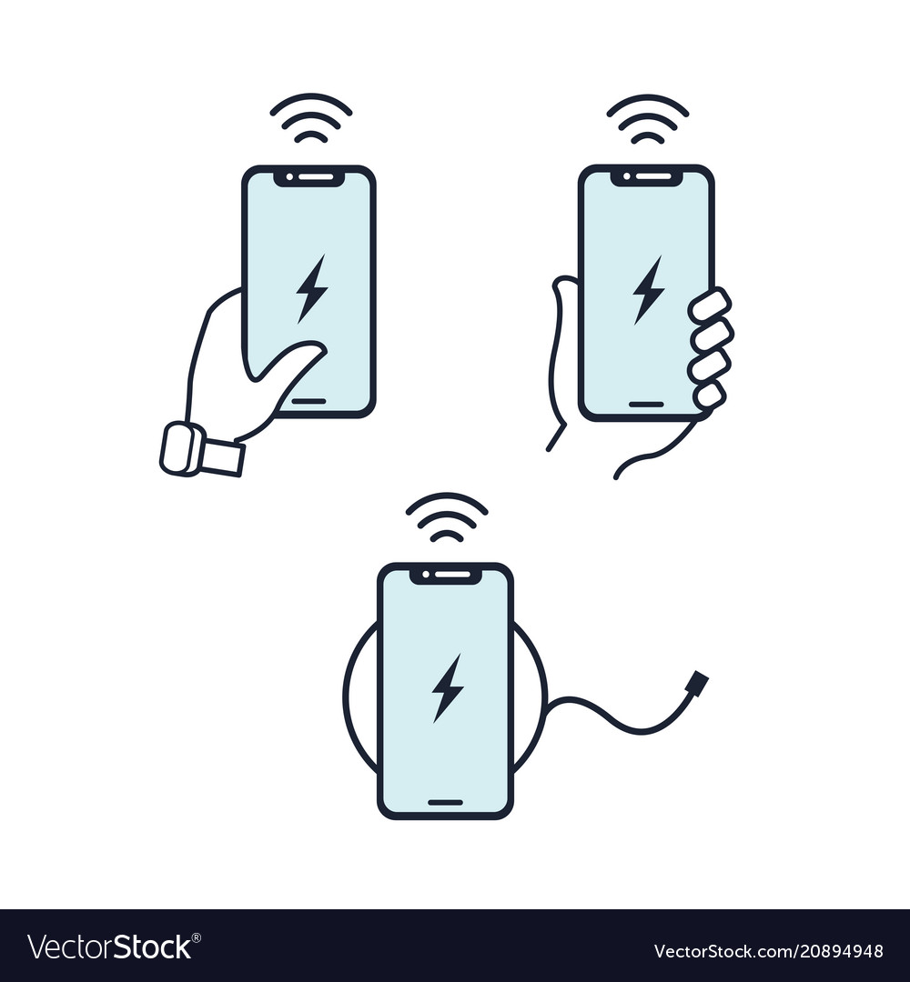 Wireless charger hands holding