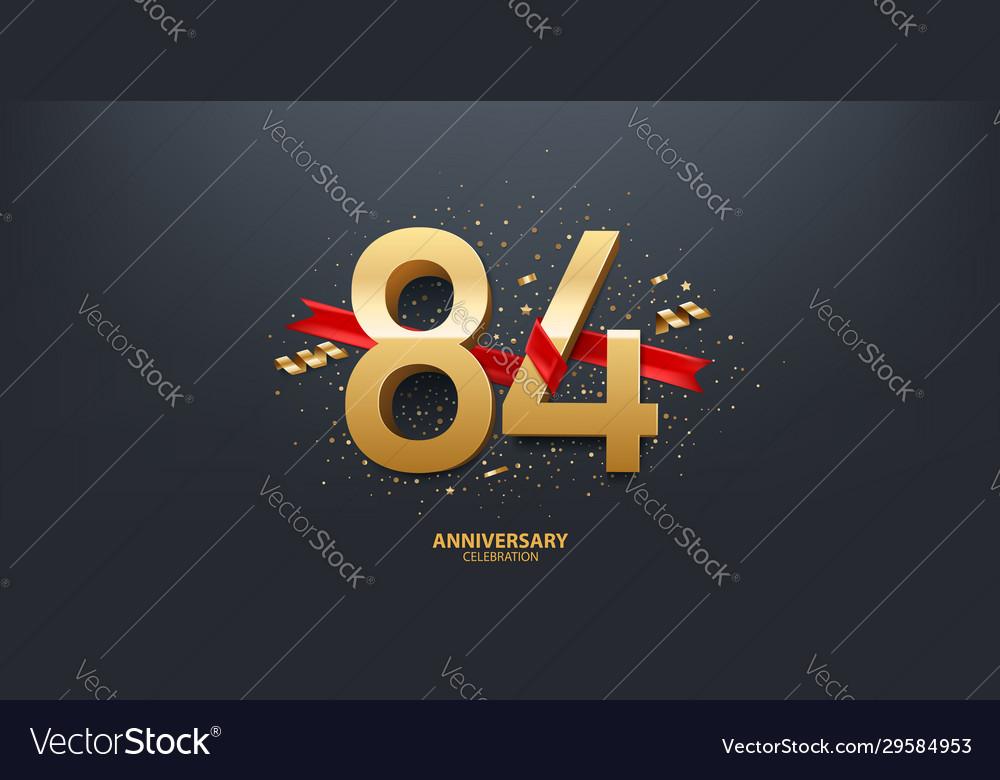 84th year anniversary background