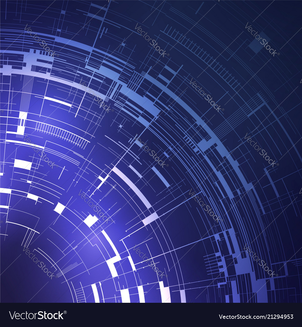 Abstract technical background with lines in blue