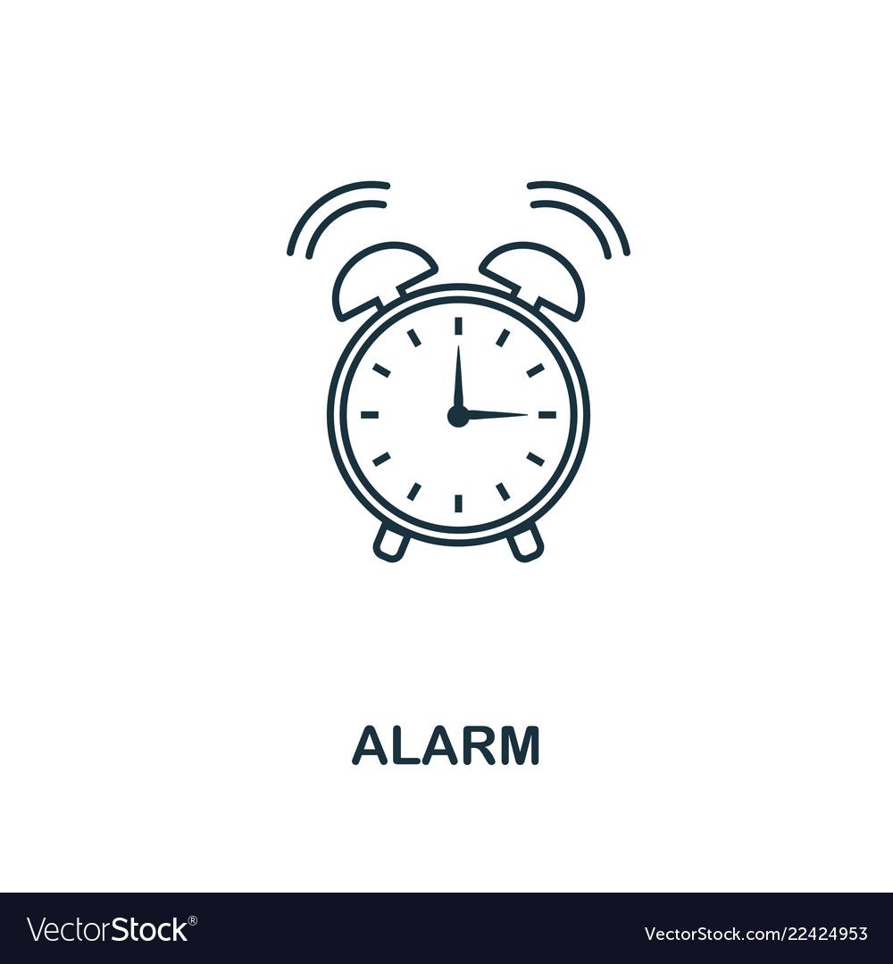 Alarm outline icon creative design from school