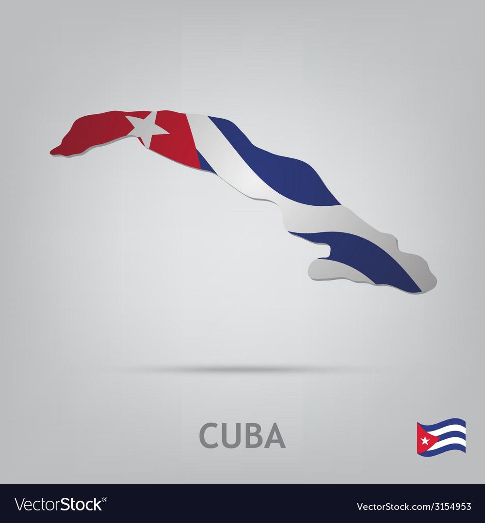 Country cuba vector image