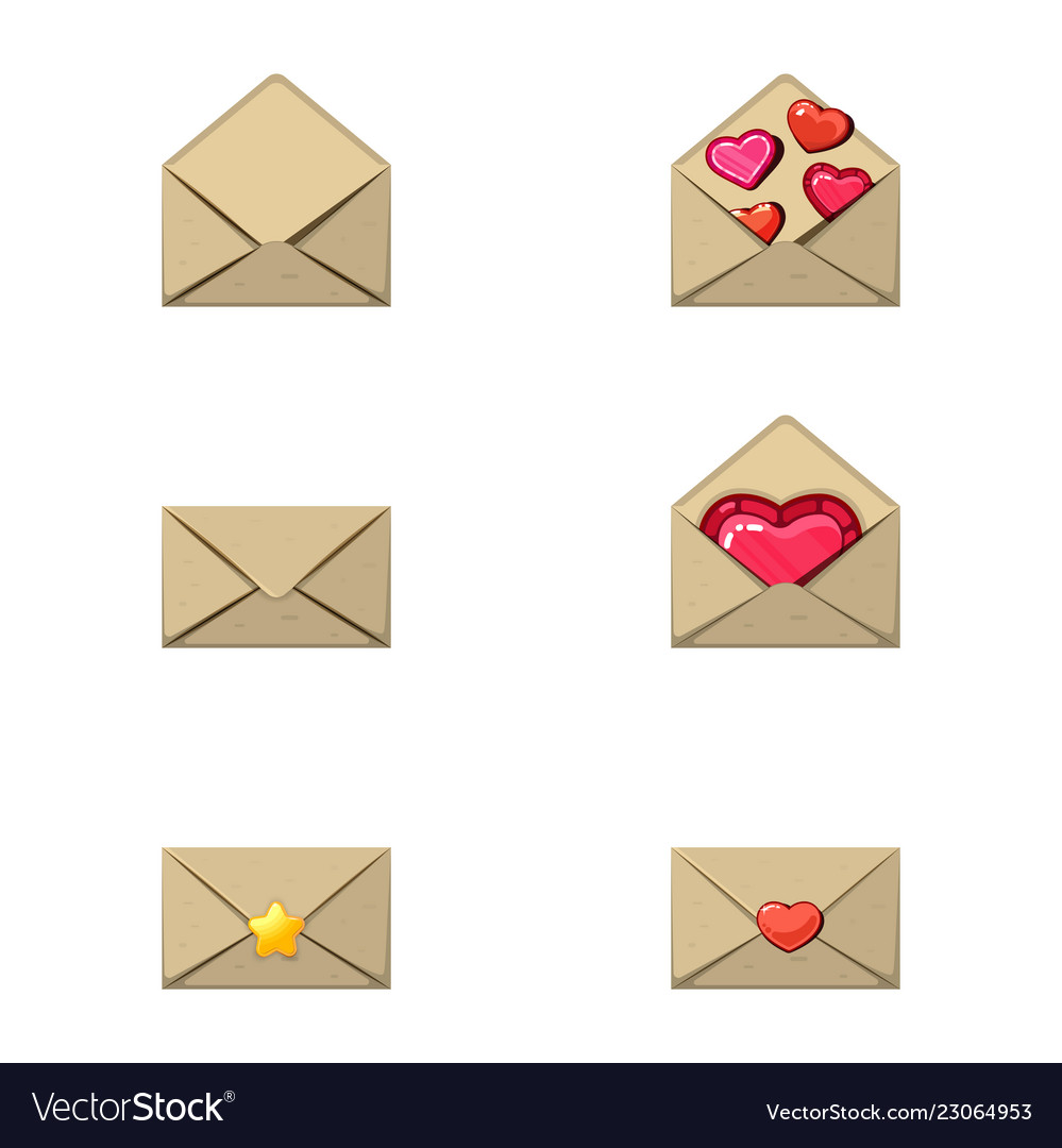 Envelope and heart stamp a love message empty a