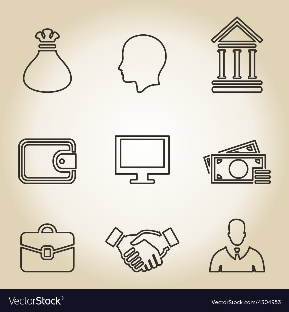 Outline business icon