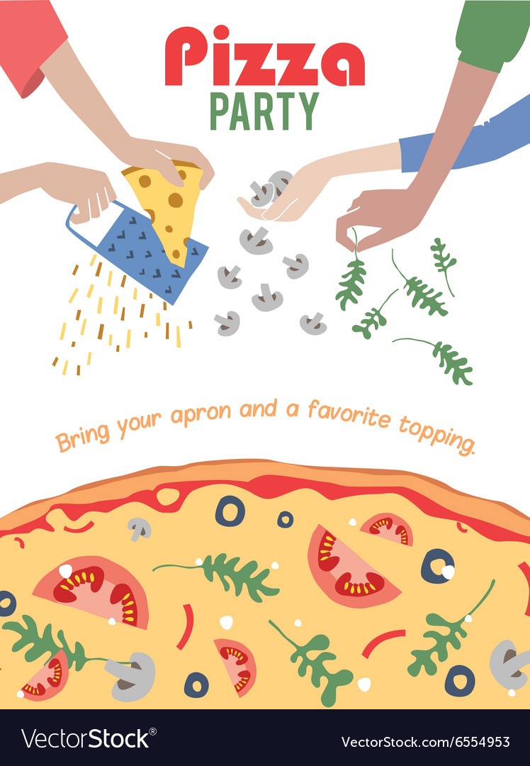 Pizza Party Invitation Poster Flyer