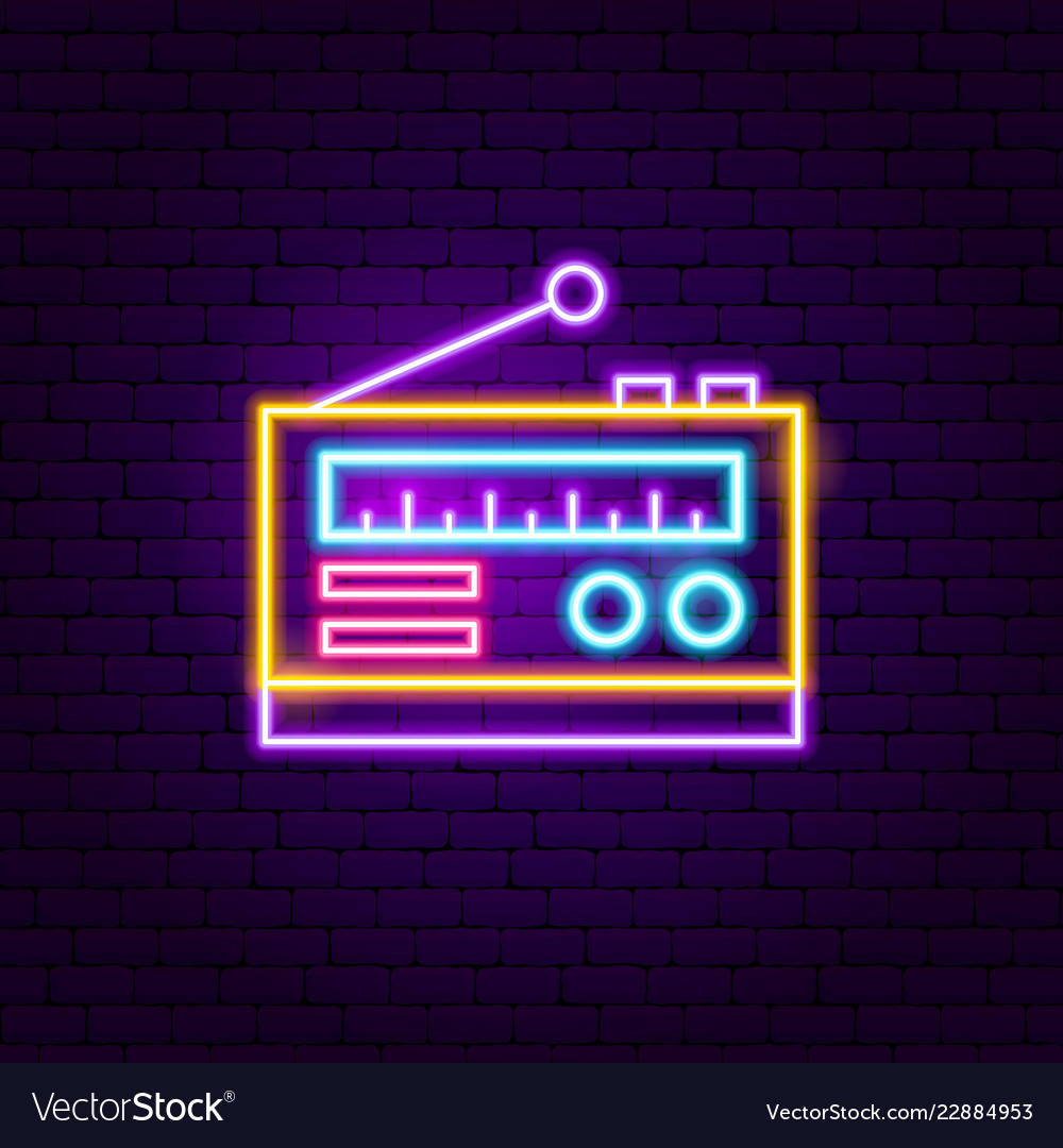 Radio neon sign