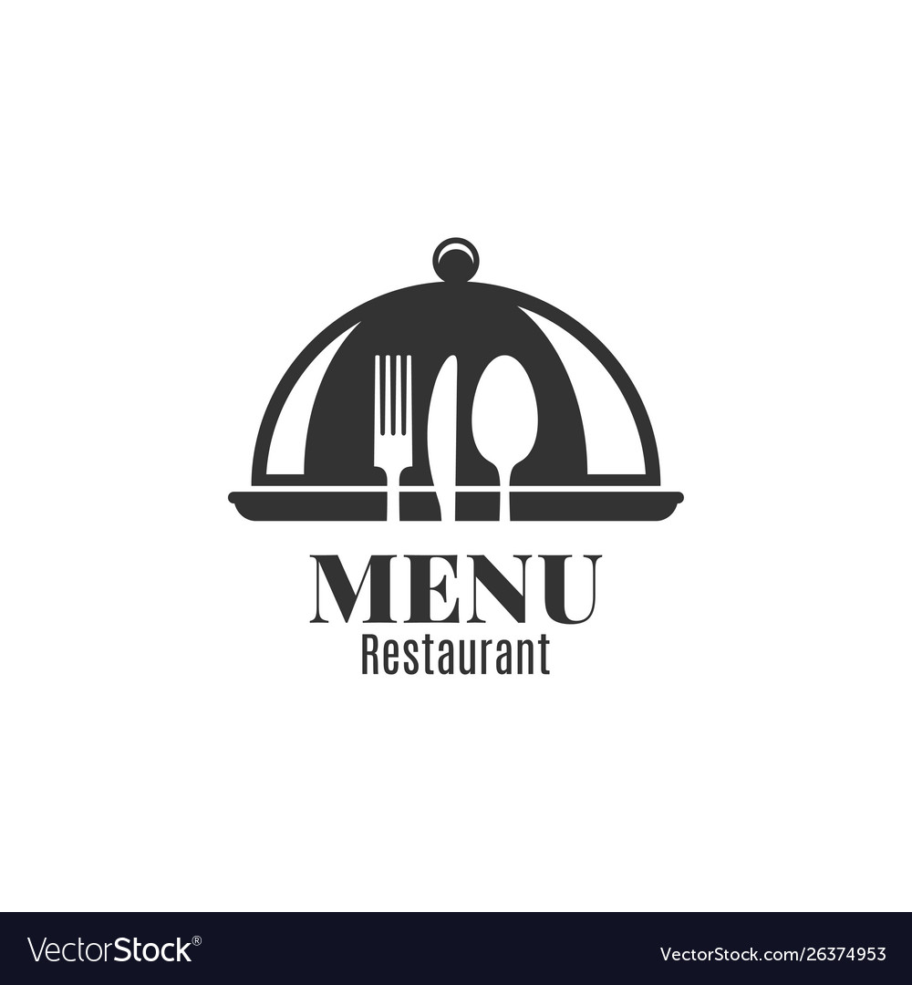 Restaurant menu with fork knife and spoon