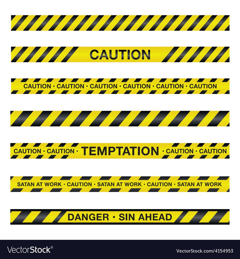 spiritual police caution tape royalty free vector image rh vectorstock com Caution Tape Clip Art caution tape border vector