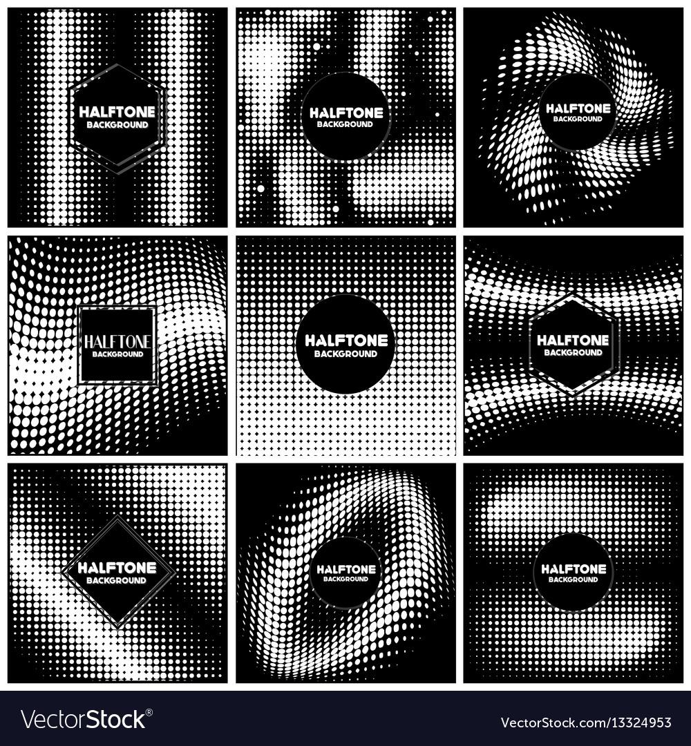 Vintage halftone style background design template