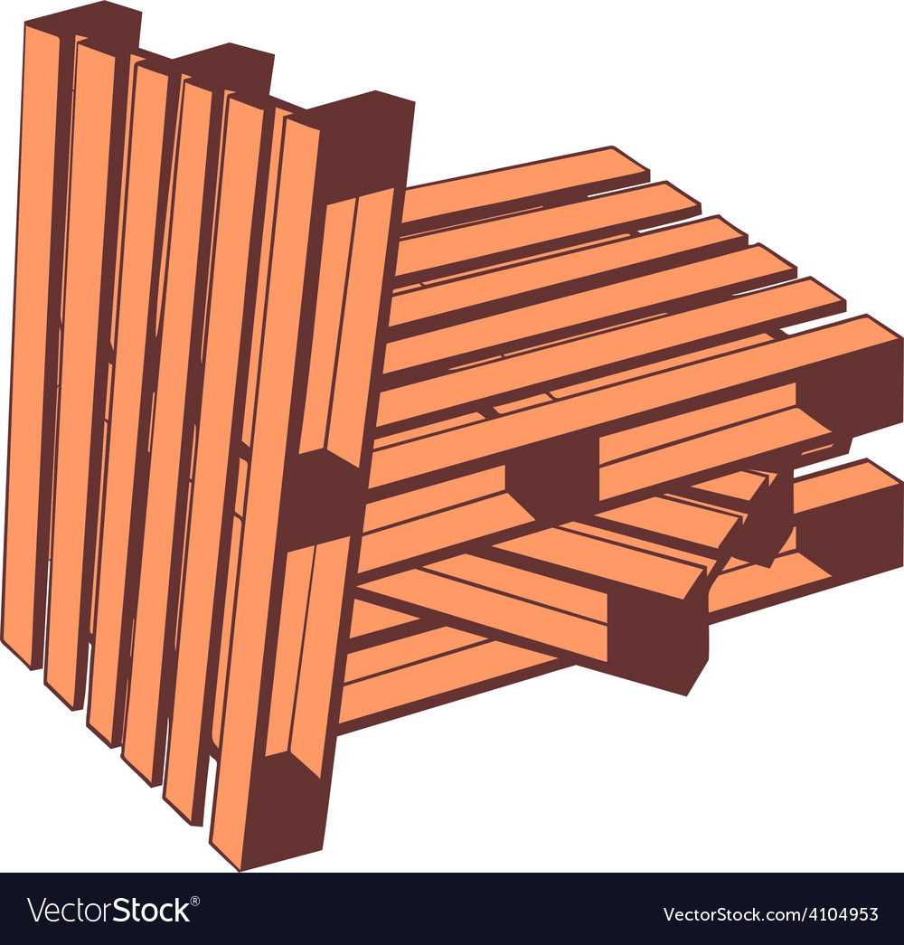 Wooden pallets vector image