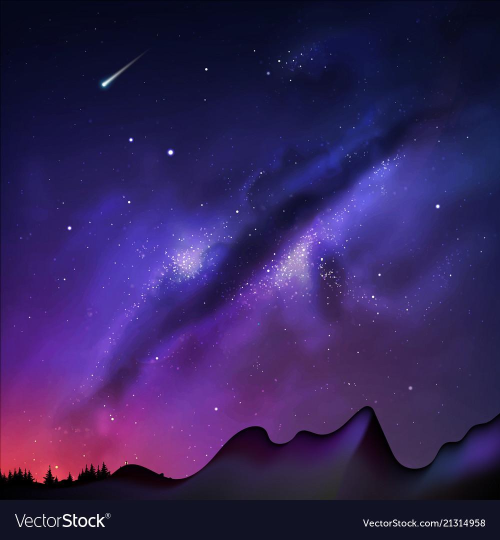A milky way night sky