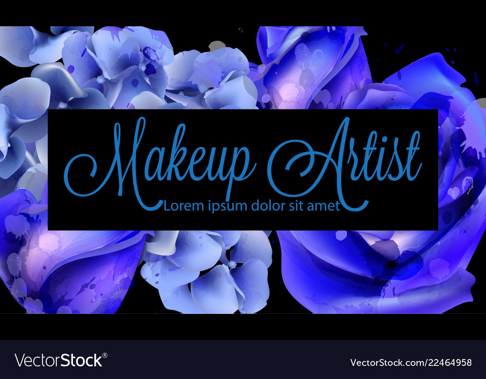 Blue watercolor roses background beautiful