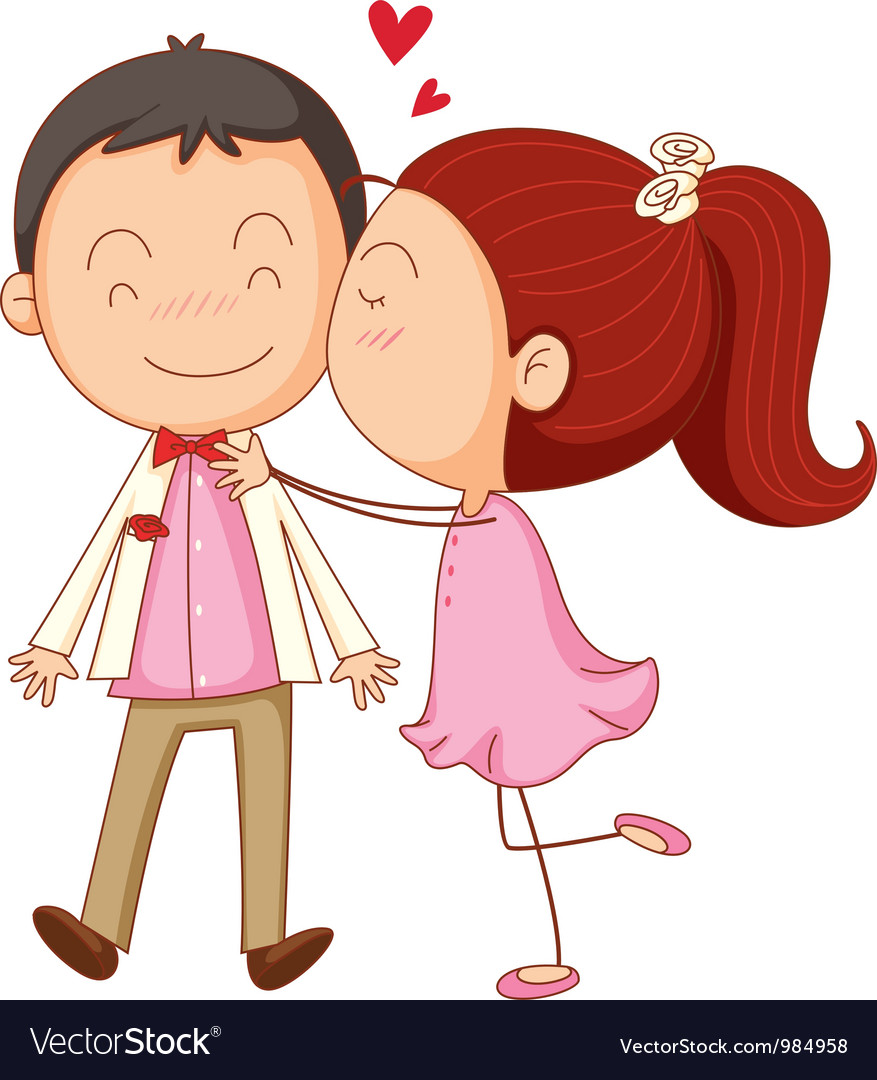 Couple In Love Royalty Free Vector Image Vectorstock