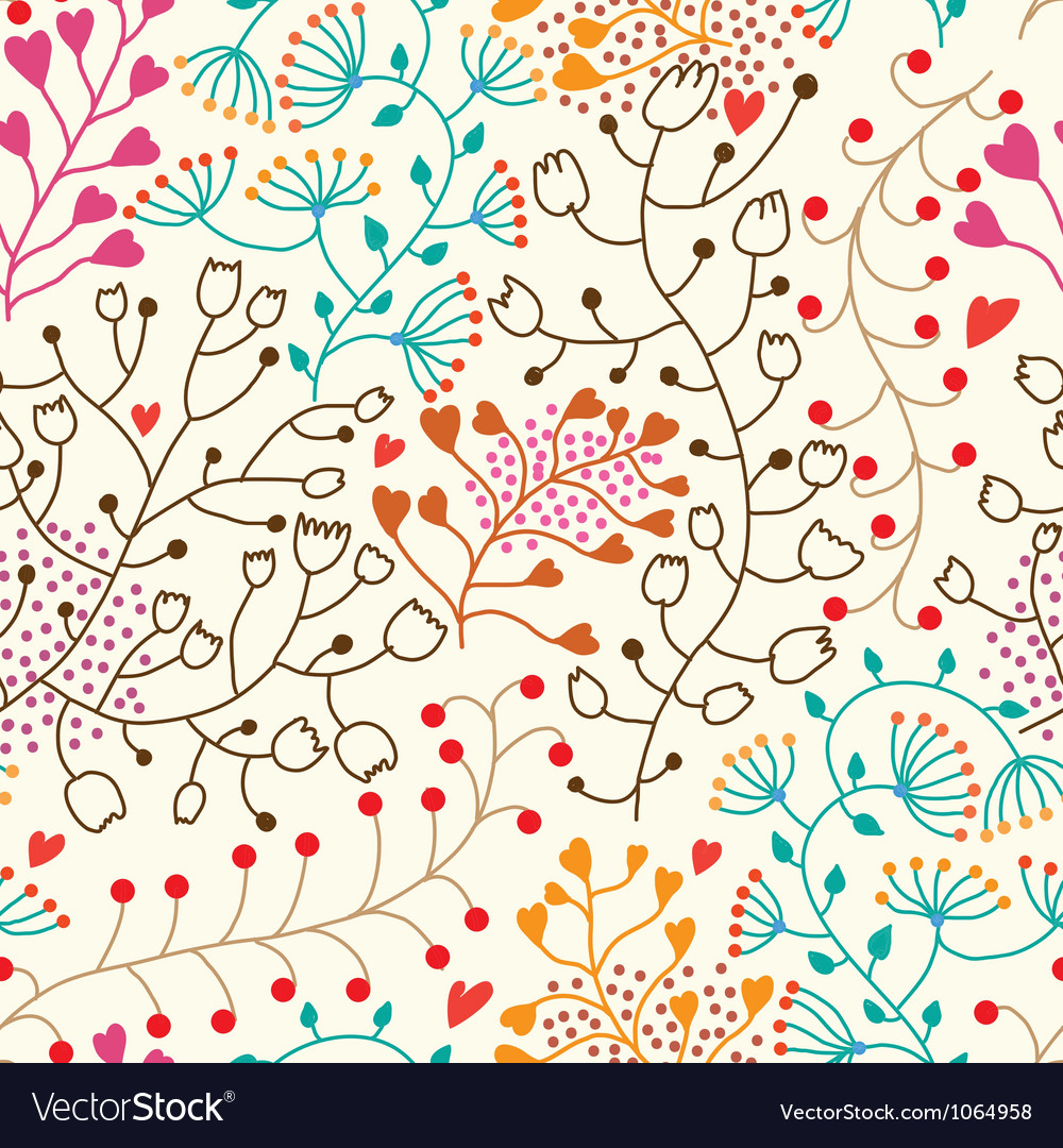 Foral seamless pattern in