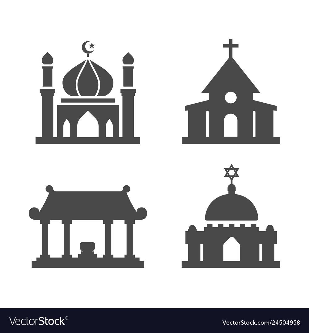 House worship icons set