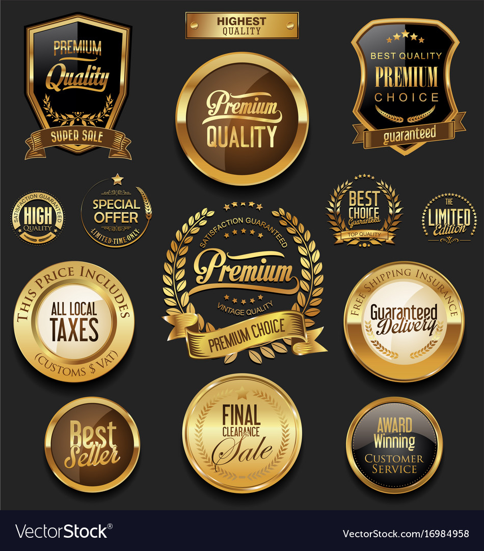 Luxury retro badge and labels collection 2 vector image