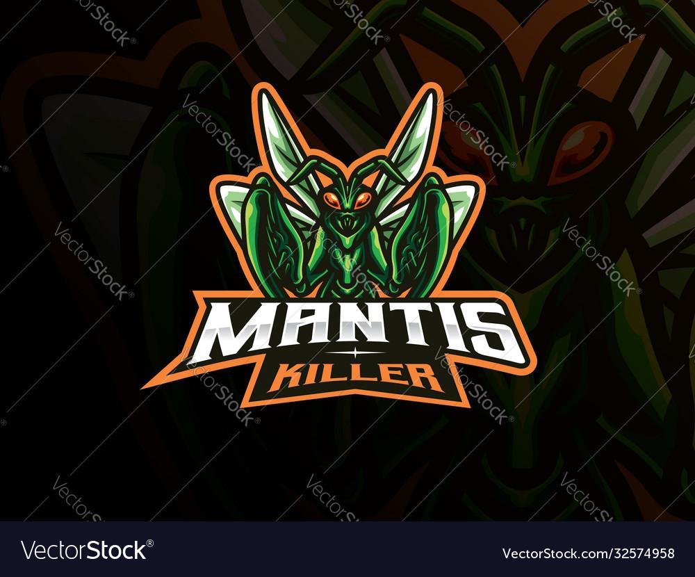 Mantis mascot sport logo design